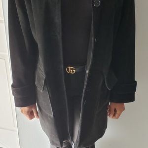 Oversized suede coat